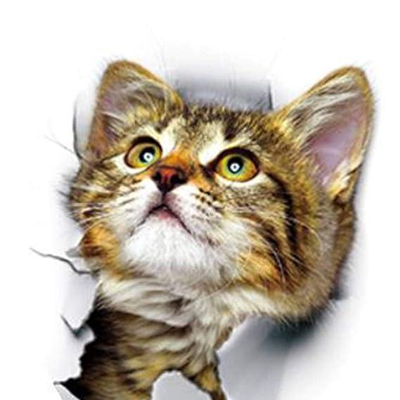 mailfoulen DIY 3D del Gato extraíble Aseo Cartel Pegatinas ...