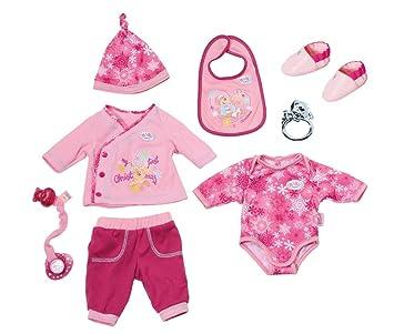 Babypuppen & Zubehör auch Für Baby Born 5 verschiedene Puppenbekleidungs Set mit viel Zubehör