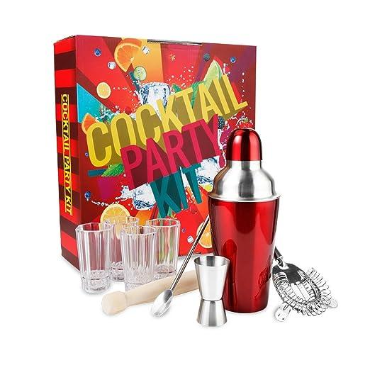 11 opinioni per Creative-7 Party Kit per Cocktail con shaker da 600ml, colino, pestello,