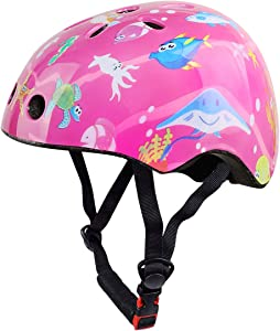 Besmall Cute Kids Bike Helmet Ages 3-7 Boys Girls Adjustable Safety & Comfort Helmets for Multi-Sports Cycle Skating Scooter