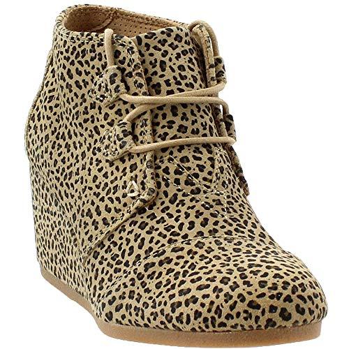 en's Oxford, Cheetah Suede, Size 6.0 ()