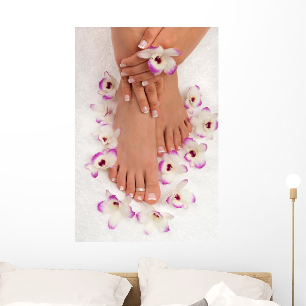 Wallmonkeys WM229545 Spa Decal Pedicure Wall Decal Peel and Stick Graphic (36 in H x 24 in W)