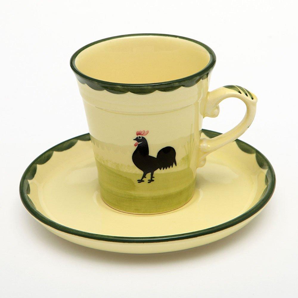 Zeller Keramik Kaffeetasse Obertasse Obere Tasse Kaffeebecher Hahn und Henne