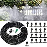 HAPYLY 65.6FT Garden Patio Misting Micro Irrigation Water Kit Cooling System Sprinkler Nozzle for Outdoor Landscape Flower