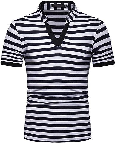 Wiltson Nuevo diseñador de Moda Contraste Multi-Rayas Casuales de los Hombres Camisas Slim Fit Comodidad Suave Botón-diseño Camisa de algodón: Amazon.es: Ropa y accesorios