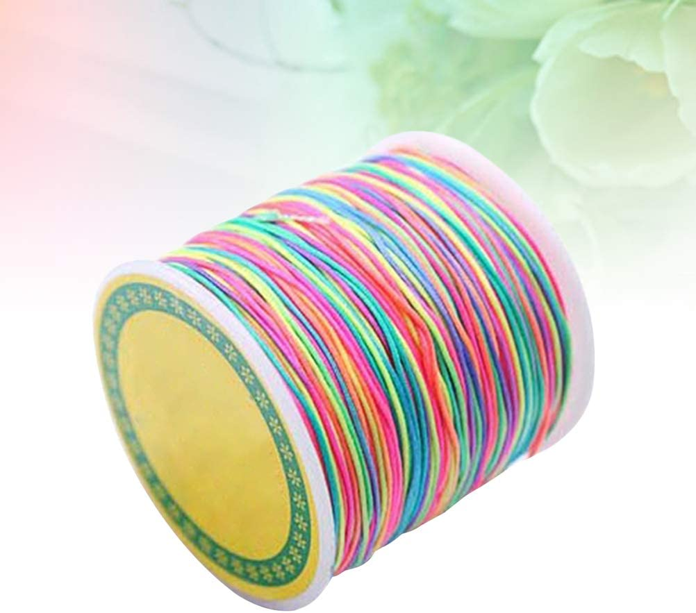 SUPVOX 100m 1.5mm Necklace Bracelet Cord Roll Elastic Beading String Diy Crafting Thread Jewelry Making Supplies