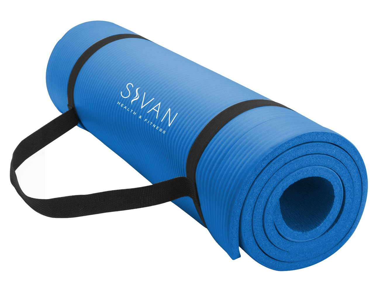 Sivan Health and Fitness YGM-NBR-B NBR Yoga and Pilates Mat (Blue)
