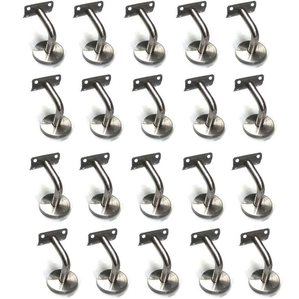 Cozyel Lot de 30 mains courantes supports muraux en acier inoxydable pour Rampe Escalier