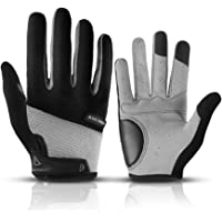 YOUYA Cycling Gloves Bicycle Gloves Core Full Finger Unisex Road Bike Gloves with 5mm Pad