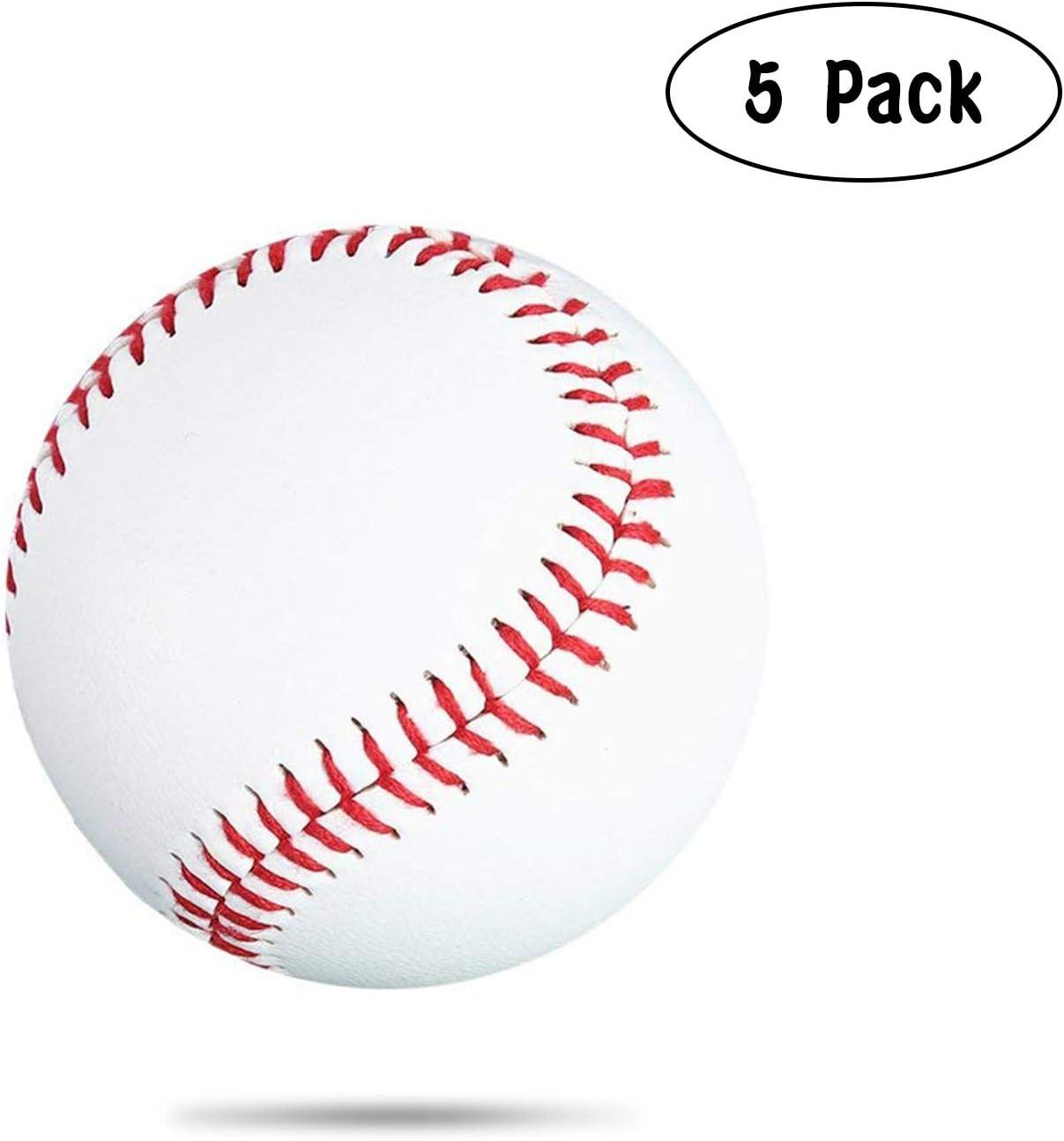 Práctica de Base de béisbol de Cuero Suave de la PU del béisbol Blanco para la enseñanza del béisbol de los Estudiantes de la Escuela: Amazon.es: Deportes y aire libre