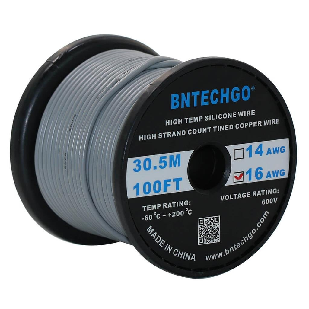 Silicone Wire 30 AWG 16 Feet Electric Wire Strands of Tinned Copper Wire Black