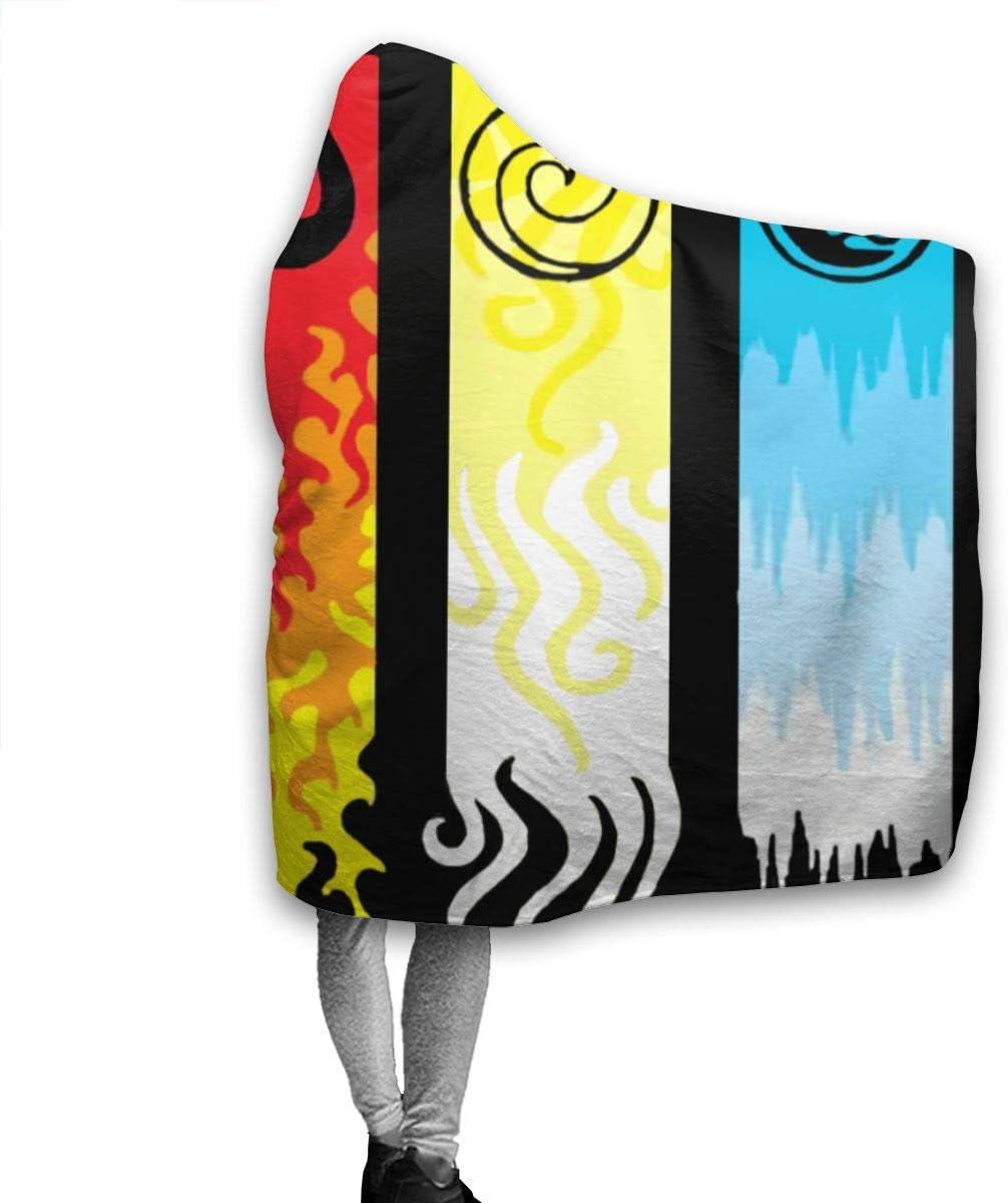 Didrika Avatar The Last Airbender Hoodie Blanket Plush Ultra Soft Plush Throw Blanket Boys Cloak Wearable Blankets Hooded Throw Wrap 50x40 Inch for Kids