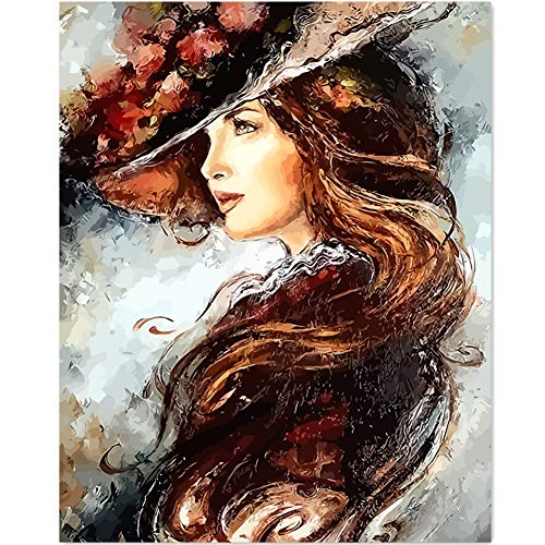 Version 3.0 HD DIY Oil Painting by Numbers Kit Theme PBN Kit for Adults Girls Kids White Christmas Decor Decorations Gifts- constellation12 (N1, with - Painting Oil Ballet