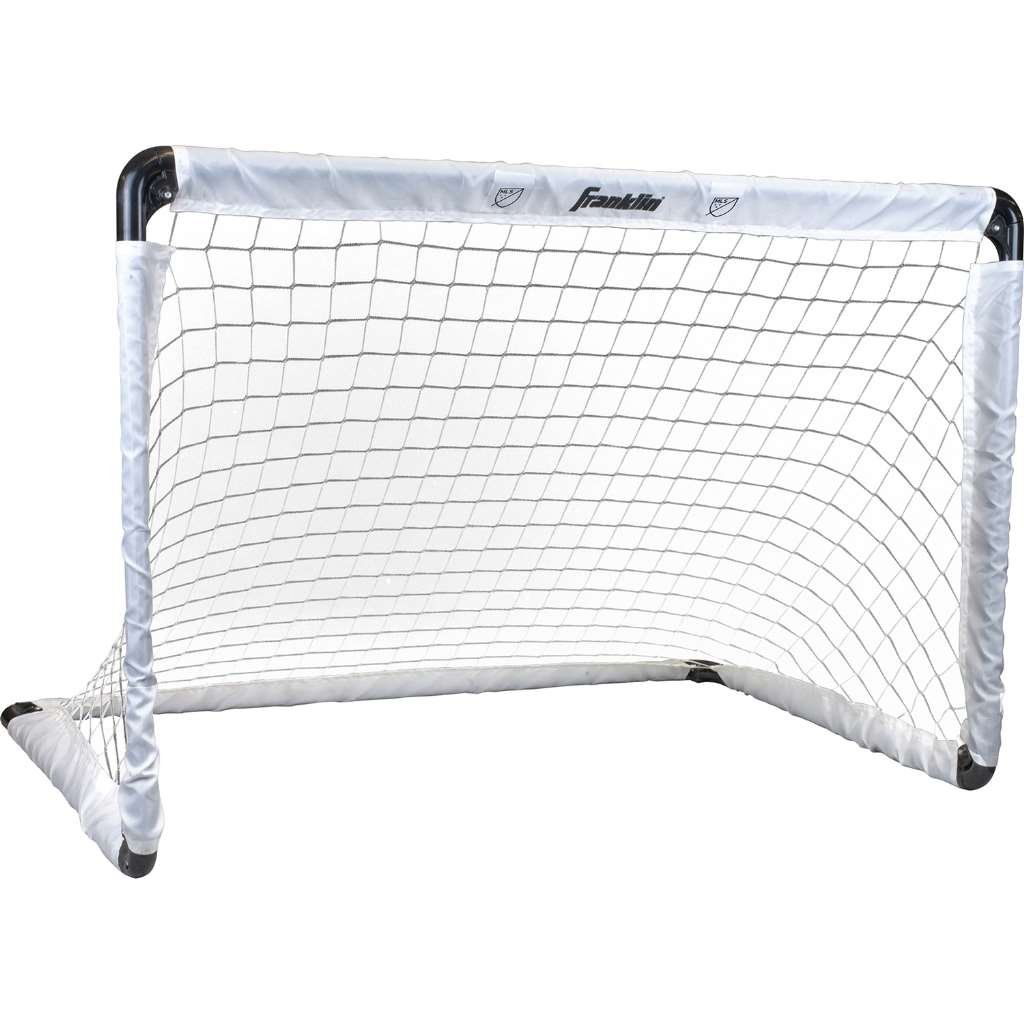 Franklin Sports Steel Soccer Goal - 36 x 24 Inch Size - Easy Assembly - Convenient Fold Flat Design for Storage – Great for Outdoor Play!