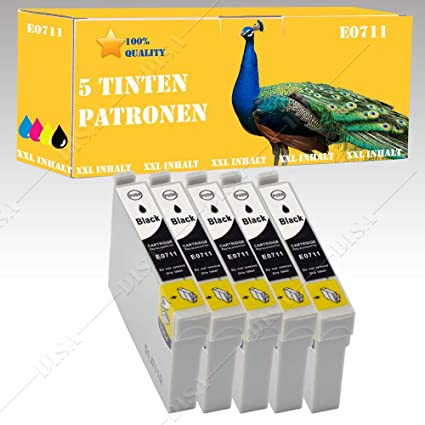 5 Cartuchos de Tinta Black para Stylus: DX5500/DX6000/DX6050 ...