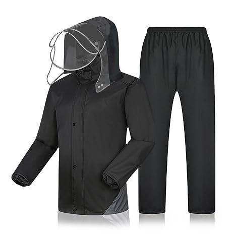 XJLG-Traje Impermeable de Poncho Impermeable Pantalones ...