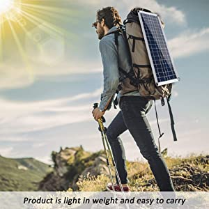 AOUSTHOP Flexible Solar Panel 30W 5V/18V,Portable Solar Kit, Complete Solar Panel Car Boat Kit with Battery, for Off Grid Off Home,Monocrystalline Battery Charger Maintainer for Vehicle Marine