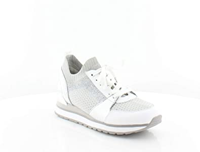 e436a7157 Image Unavailable. Image not available for. Color: Michael Kors MK Women's  Billie Knit Trainer Fabric Sneakers Shoes (6.5, Aluminum)