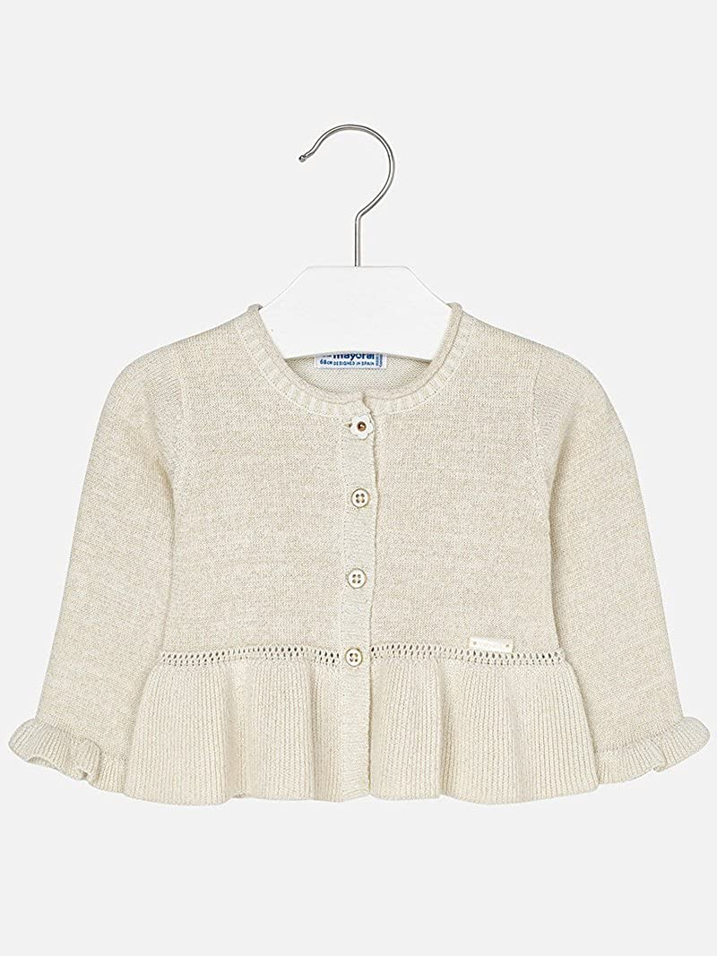 Amazon.com: Mayoral 28-01316-073 - Knitting Cardigan for Baby-Girls 6 Months Champagne: Clothing