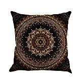 "Goddessvan Bohemia Geometry Painting Flax Cushion Cover Throw Pillow Case Sofa Home Decor 1818'' Inch (45cm45cm/1818"", C)"