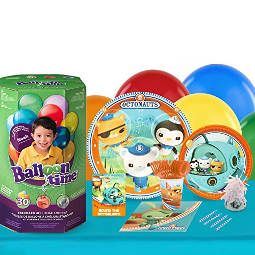 BirthdayExpress Octonauts Party Supplies - Party Pack with Helium for 16 Guests -