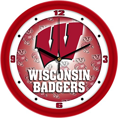 Badgers Wall Wisconsin Clock - SunTime Wisconsin Badgers - Dimension Wall Clock