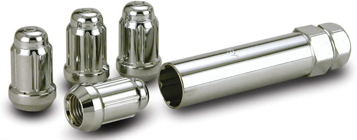 Locking Lug Nuts Wheel Locks 12x1.5 Chrome Closed Bulge Acorn Fits Toyota