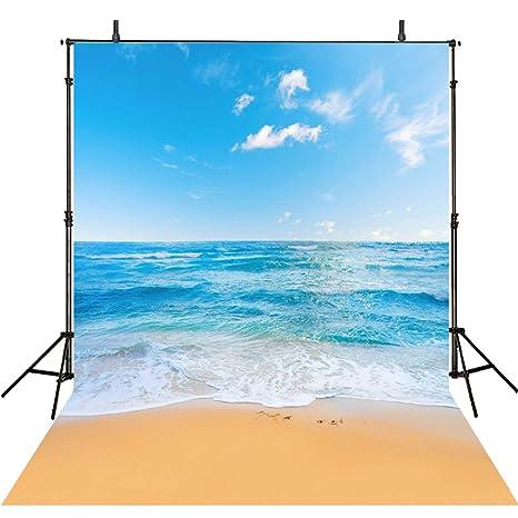 amazon com 8x8ft sea beach backdrop photography ocean backgrounds