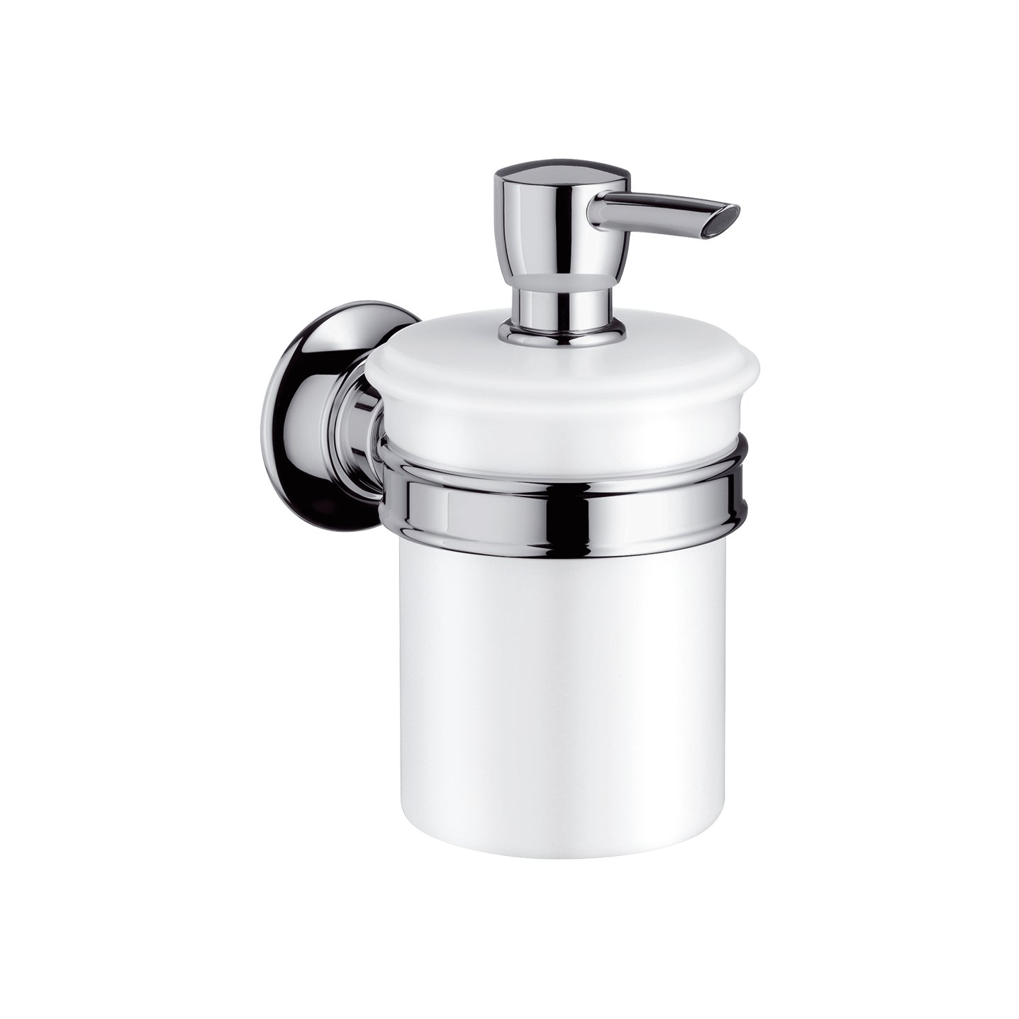 Axor 42019820 Wall-Mounted 8oz Soap Lotion Dispenser, Brushed Nickel