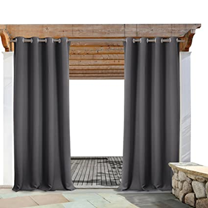 Merveilleux PONY DANCE Gray Patio Curtain   Indoor Outdoor Thermal Insulated Privacy  Protect Blackout Shades Drapes Solid