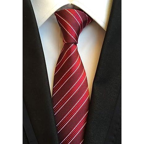 FDHFC Hombres 8 Cm Blanco Corbatas Negras Corbata Púrpura Corbata ...