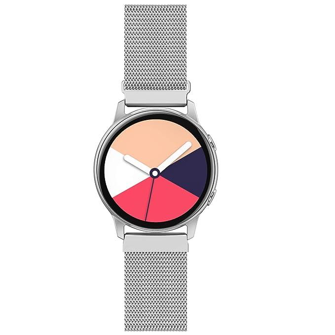 QusFy - Correa de metal compatible con Samsung Galaxy Watch 42 mm ...
