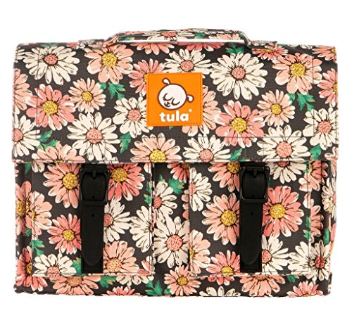 Baby Tula European Style Kids Backpack, Water-Resistant, Girls School Bookbag – Flourish (Pink and White Daisies) (Flourish Pink)