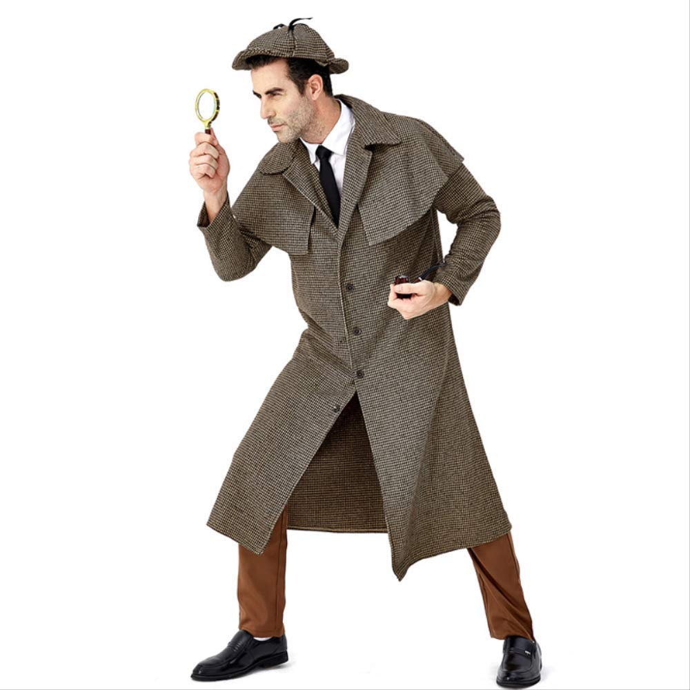 As Shown grand Rôle d'halFaibleeen Le Grand Détective Sherlock Holmes Joue, Le Manteau à col roulé de l'Anglais L