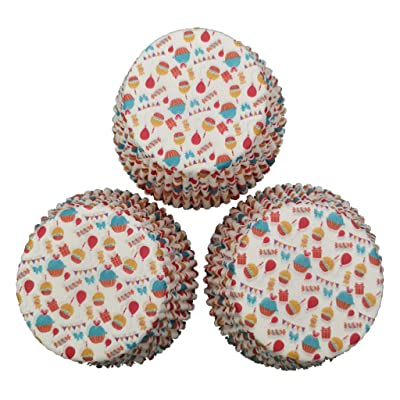 Highpot 100pcs Paper Cake Cupcake Liner Case Wrapper Muffin Baking Cup for Cakes Decorations Elegant Baking Supplies (A): Health & Personal Care
