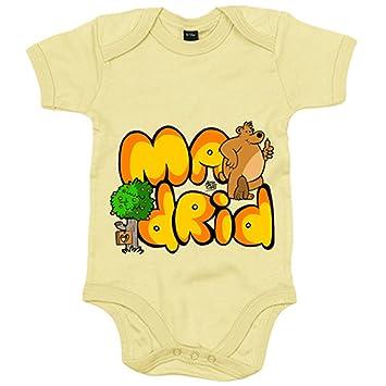 Body bebé Madrid letras de madrid - Amarillo, 6-12 meses ...