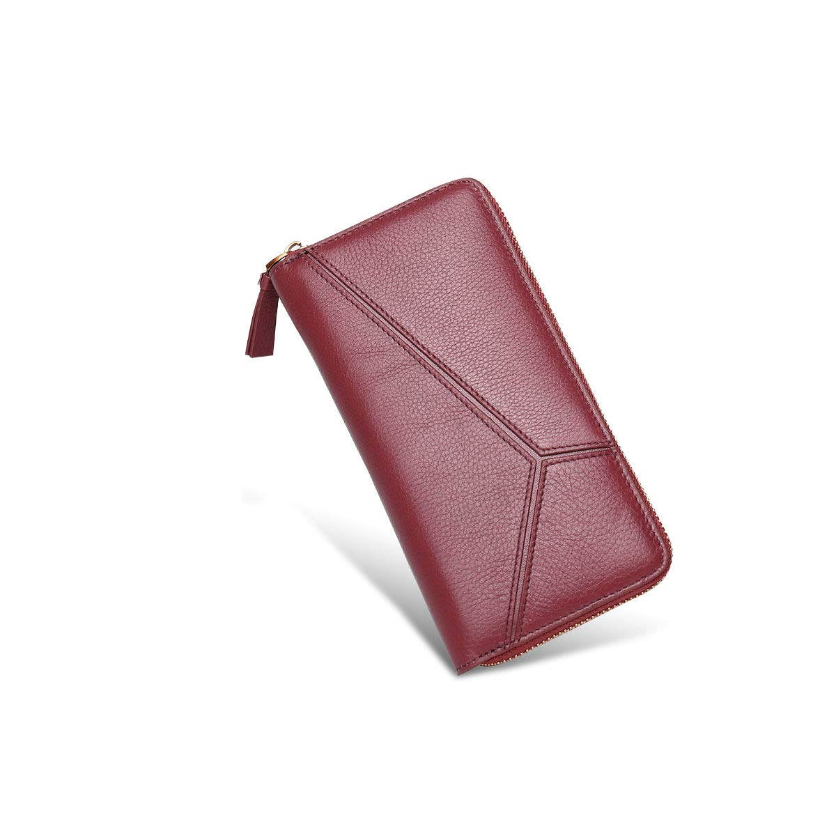 Red Leather Zipper Wallet, Clutch, Big Travel Wallet Handbag, Ladies Boxed Gift, Card Package