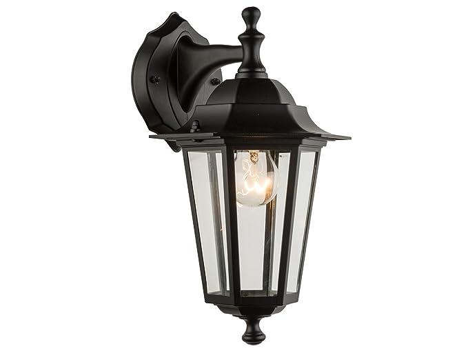 Lanterna Illuminazione : Lampada da parete nero esterno lampada lanterna appeso con led