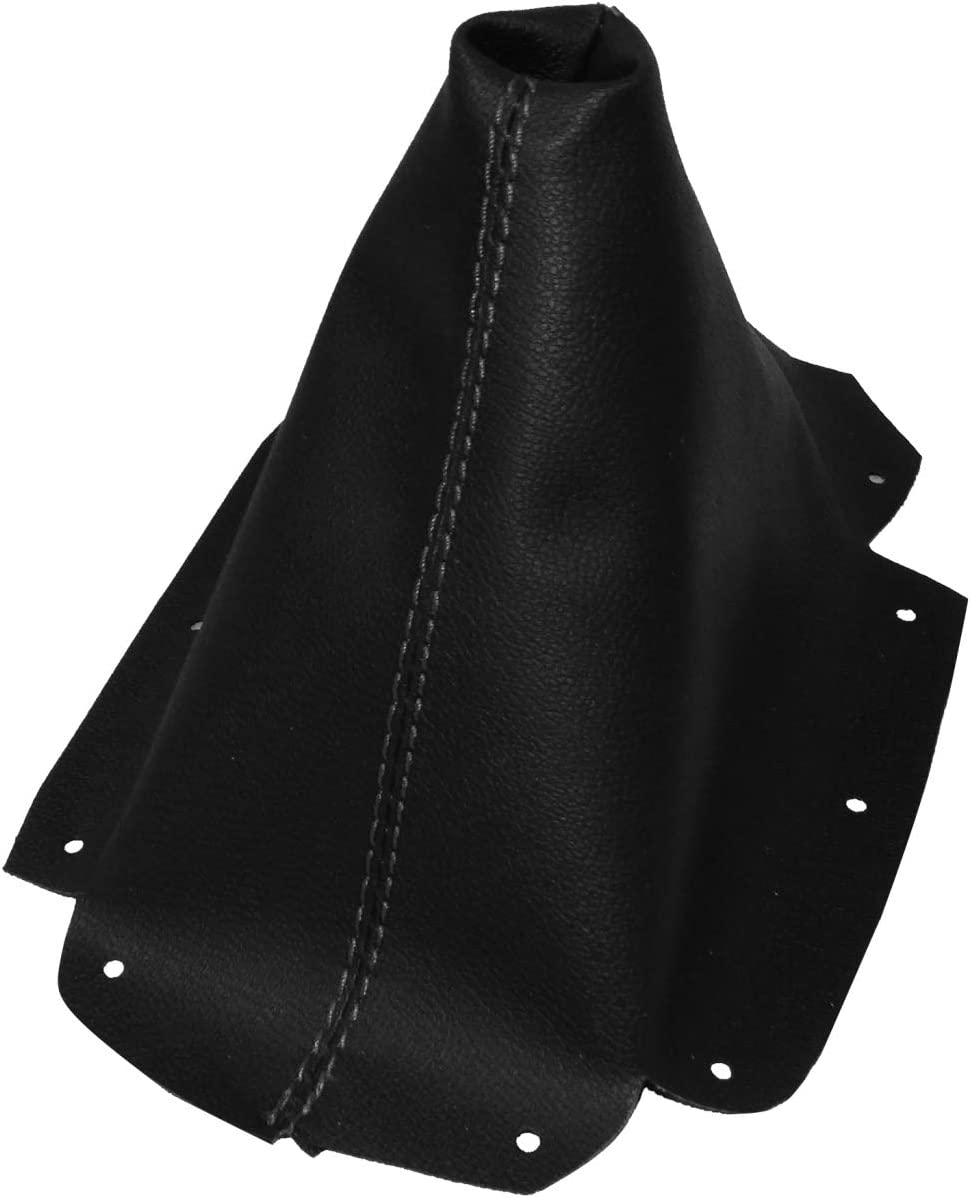 AERZETIX Gaiter cover for gear lever of faux leather black with black stitching