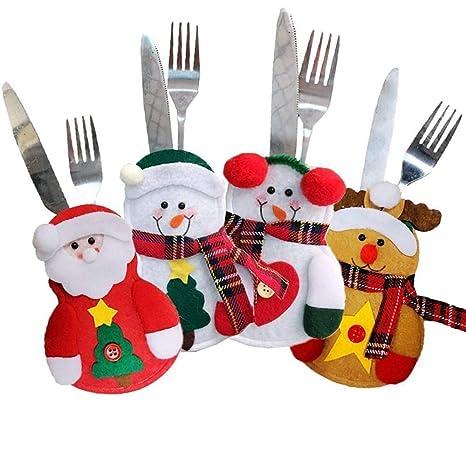 Vajilla Bolsos de Cubiertos de Navidad, Portavasos de Cocina ...