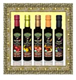 Mantova Organic Flavored Balsamic Condiments, Pear, Raspberry, Fig and Pomegranate, 34 Ounce