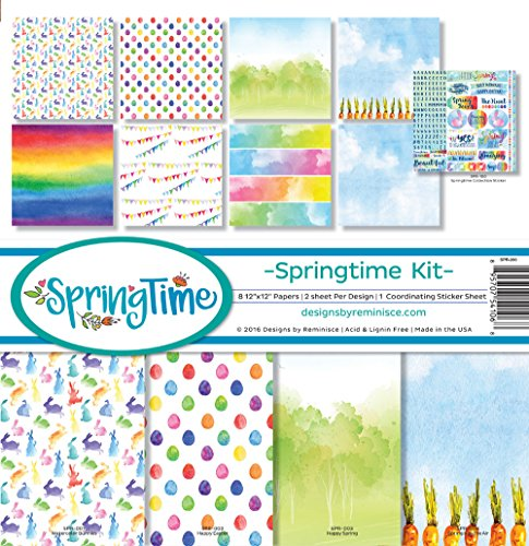 Reminisce SPR-200 Springtime Scrapbook Collection Kit ()