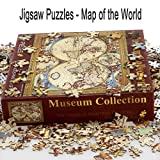 1000 PCS World Map Jigsaw Puzzles Intellectual Game For Adults and Kids Reduced Pressure Toy (A1 World Map)