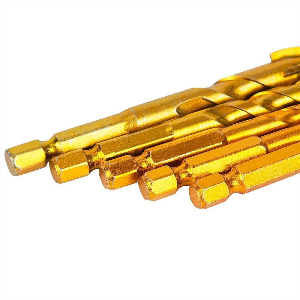 Glass Brick 5pcs Drill Bit Set,For Tile,Concrete Plastic and Wood Tungsten Carbide Tip Best,6mm 8mm 8mm 10mm 12mm