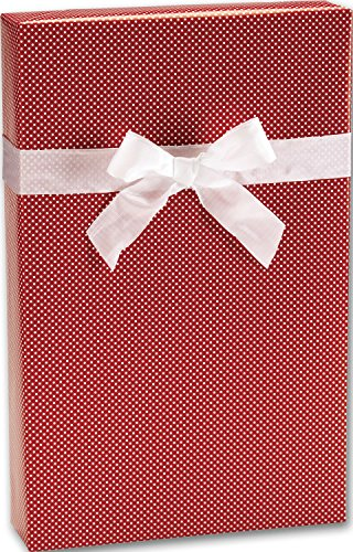 Holiday Gift Wrap - Red Swiss Jeweler's Roll Gift Wrap, 7 3/8' x 100' (1 roll) - BOWS-X-3100J
