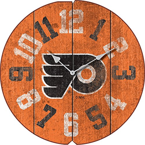 Imperial Officially Licensed NHL Merchandise: Vintage Round Clock, Philadelphia Flyers