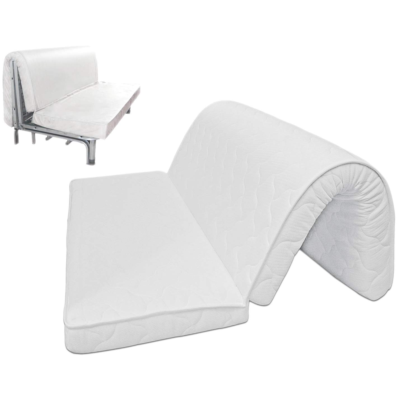 Baldiflex – Colchón para sofá Cama de Memory Foam Brio prontoletto Memory, con Doblar en Asiento, ortopédico, ergonómico, hipoalergénico, 120 x 190 x ...