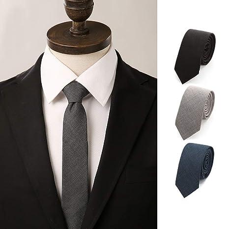 Xinxinchaoshi Corbatas Vestido 6cm Estrecha Edición del Lazo de ...