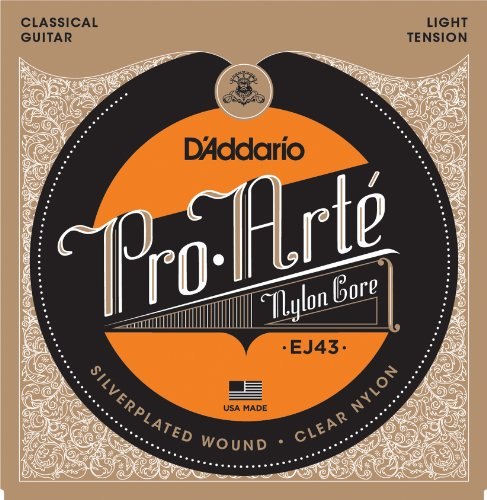 D'Addario EJ43 Pro-Arte Nylon Classical Guitar Strings, Light (Acoustic Classical String Basses)