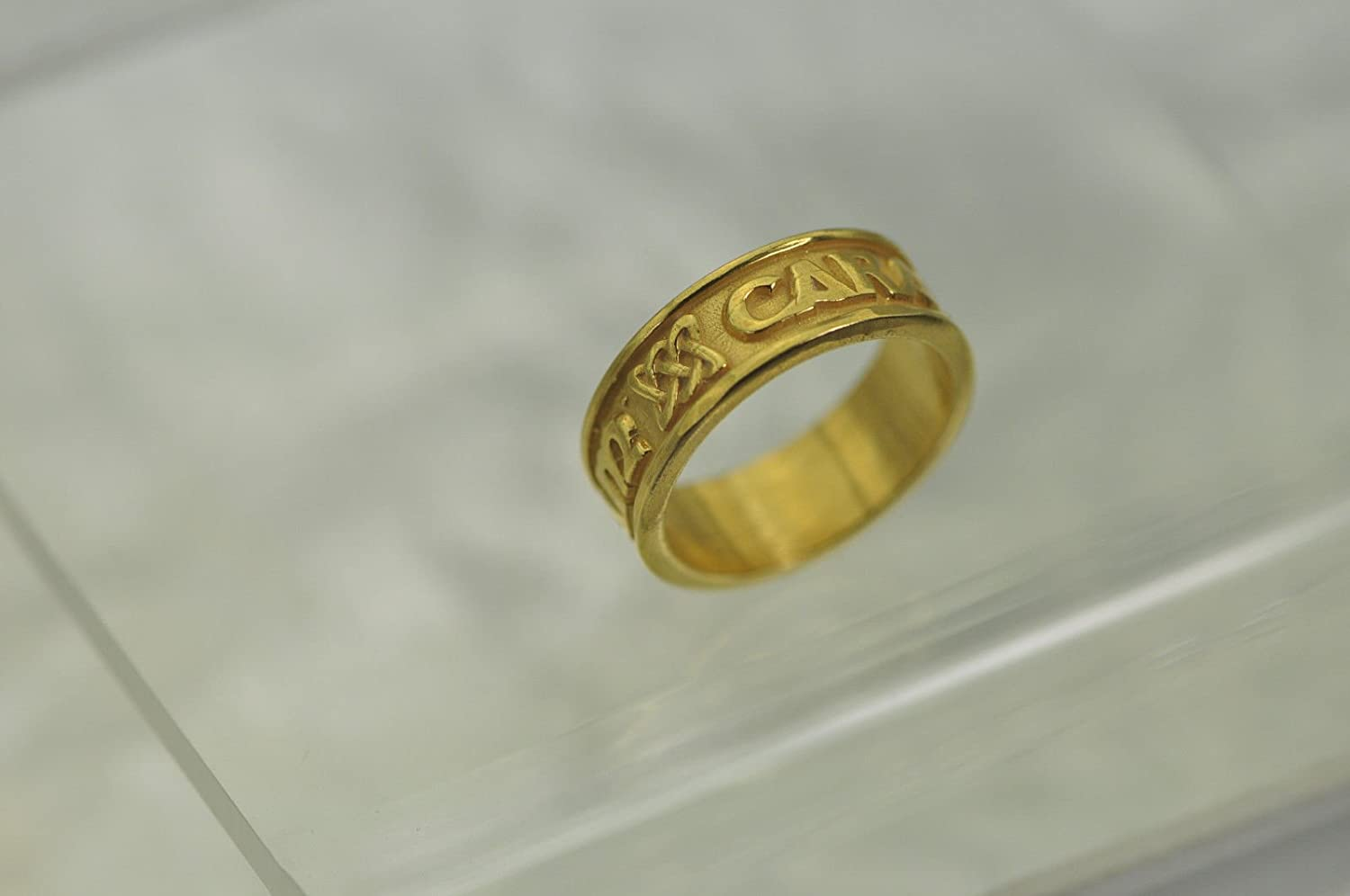24K Yellow Gold Plated CELTIC INFINITY KNOT Ring Band Weave Jewelry Pick Size